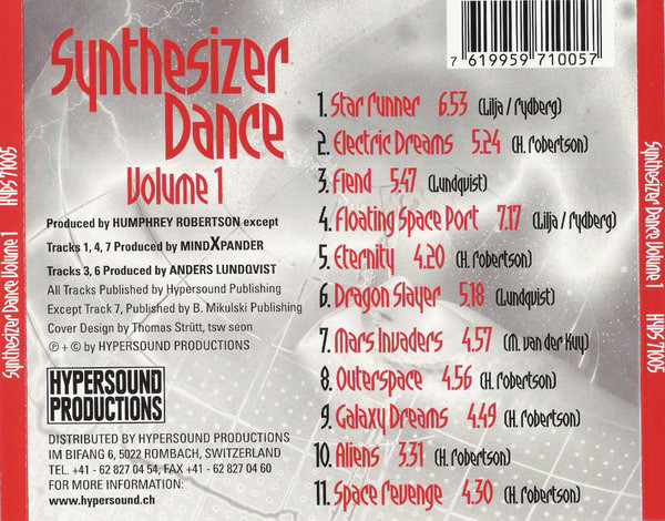 Various - Synthesizer Dance Volume 1