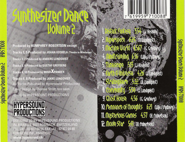 Various - Synthesizer Dance Volume 2
