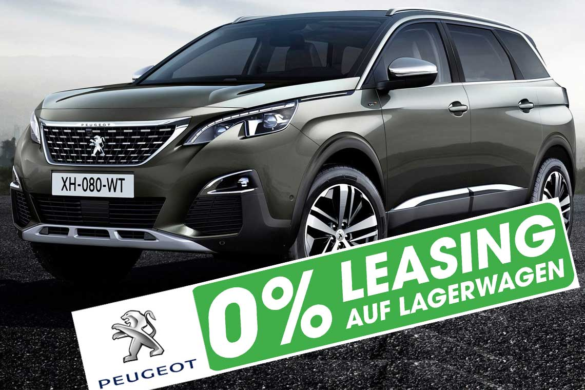 Peugeot 5008 SUV mit 0 Prozent Leasing in Basel