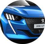 Peugeot 208 Blau Vertigo