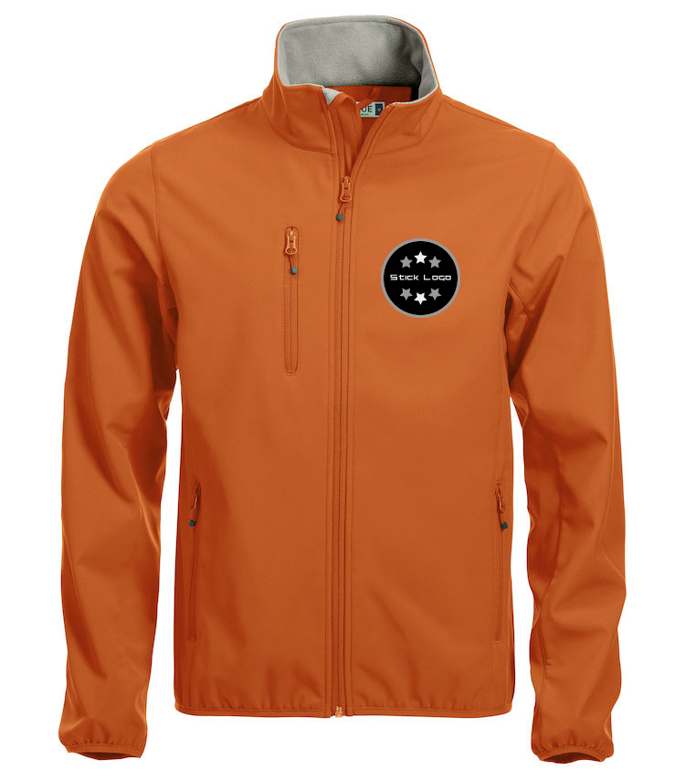 Herren Softshell Jacke CLIQUE Basic 020910 Orange 18 mit Stickerei