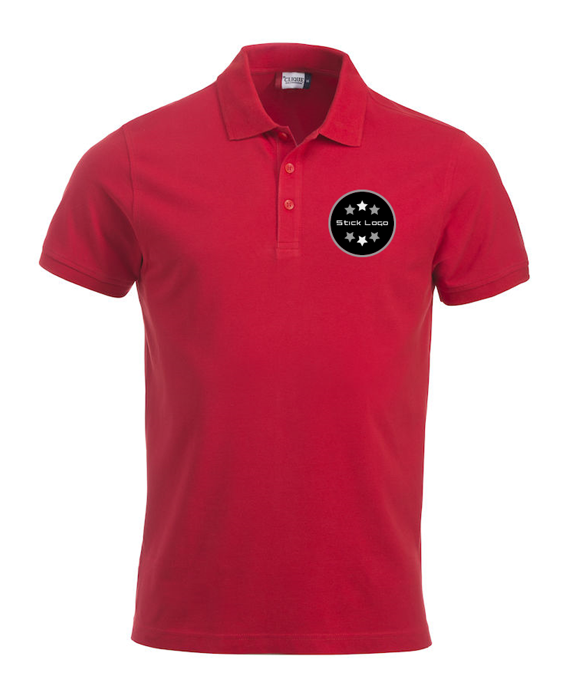 Herren Poloshirt CLIQUE Classic Lincoln 028244 Red 35 mit Stickerei