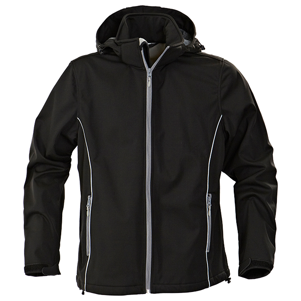 Herren Softshell Jacke PRINTER Sky Running Black