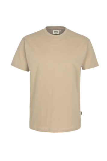 T-Shirt HAKRO Heavy-T 0293 Sand 07 mit Stickerei