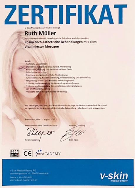 Mesogun - Zertifikat Ruthjpg