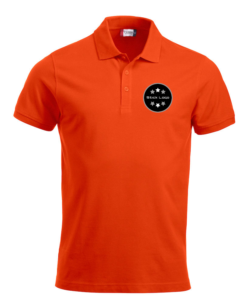 Herren Poloshirt CLIQUE Classic Lincoln 028244 Orange 18 mit Stickerei