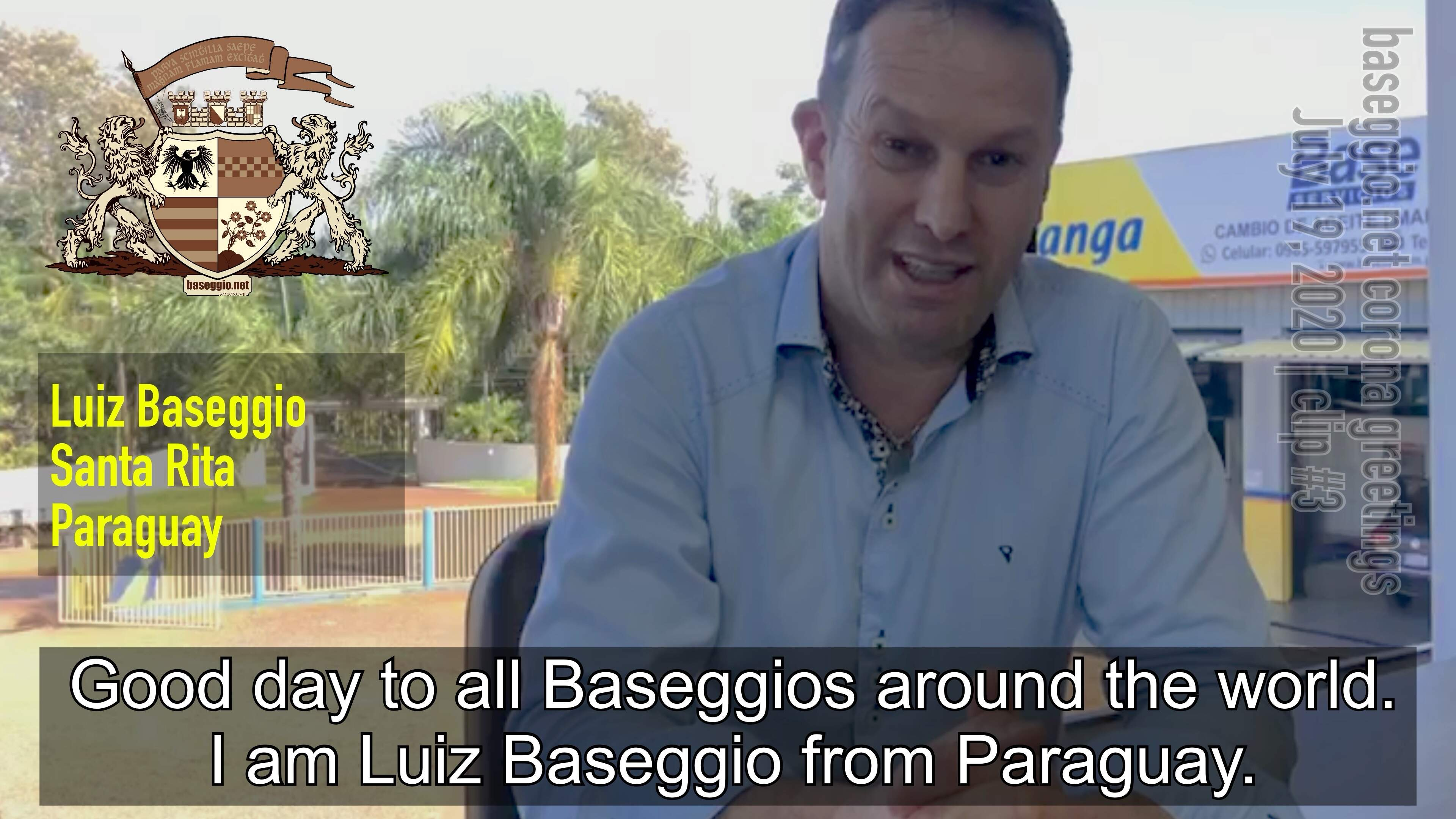 Corona Greetings #3: Luiz Baseggio