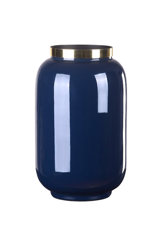 Vase midnight blue klein