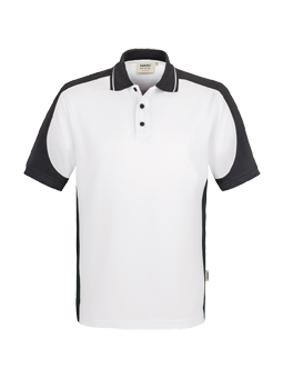 Poloshirt Hakro Contrast Performance 0839 Weiss-Anthrazit 01
