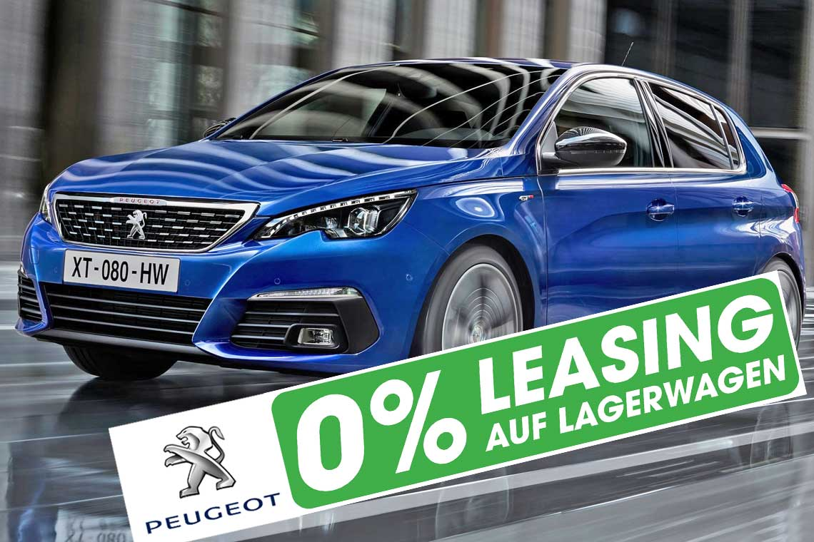 Peugeot 308 mit 0 Prozent Leasing in Basel