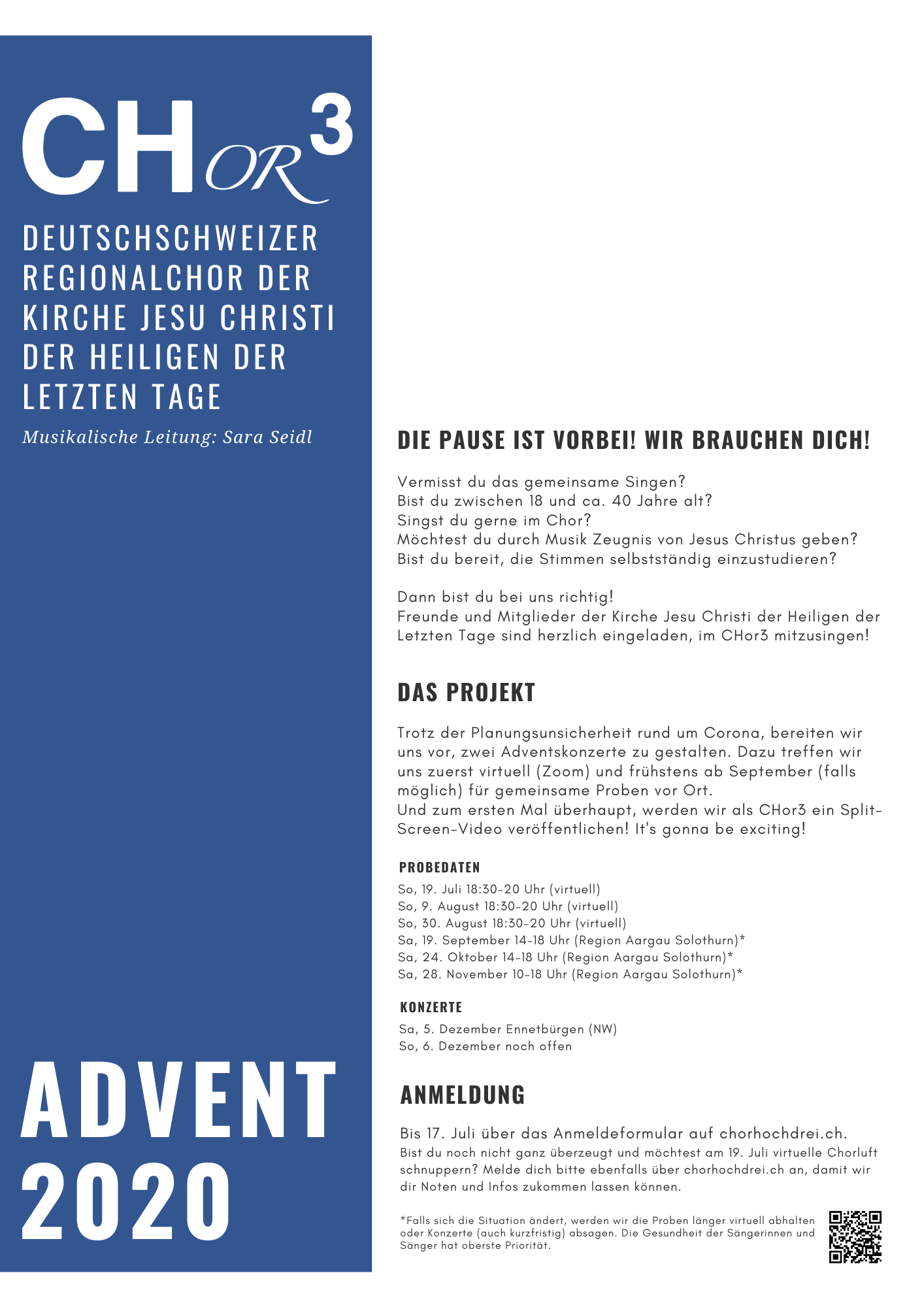 CHor3 Projektausschreibung Advent 2020_fr Sngerpng
