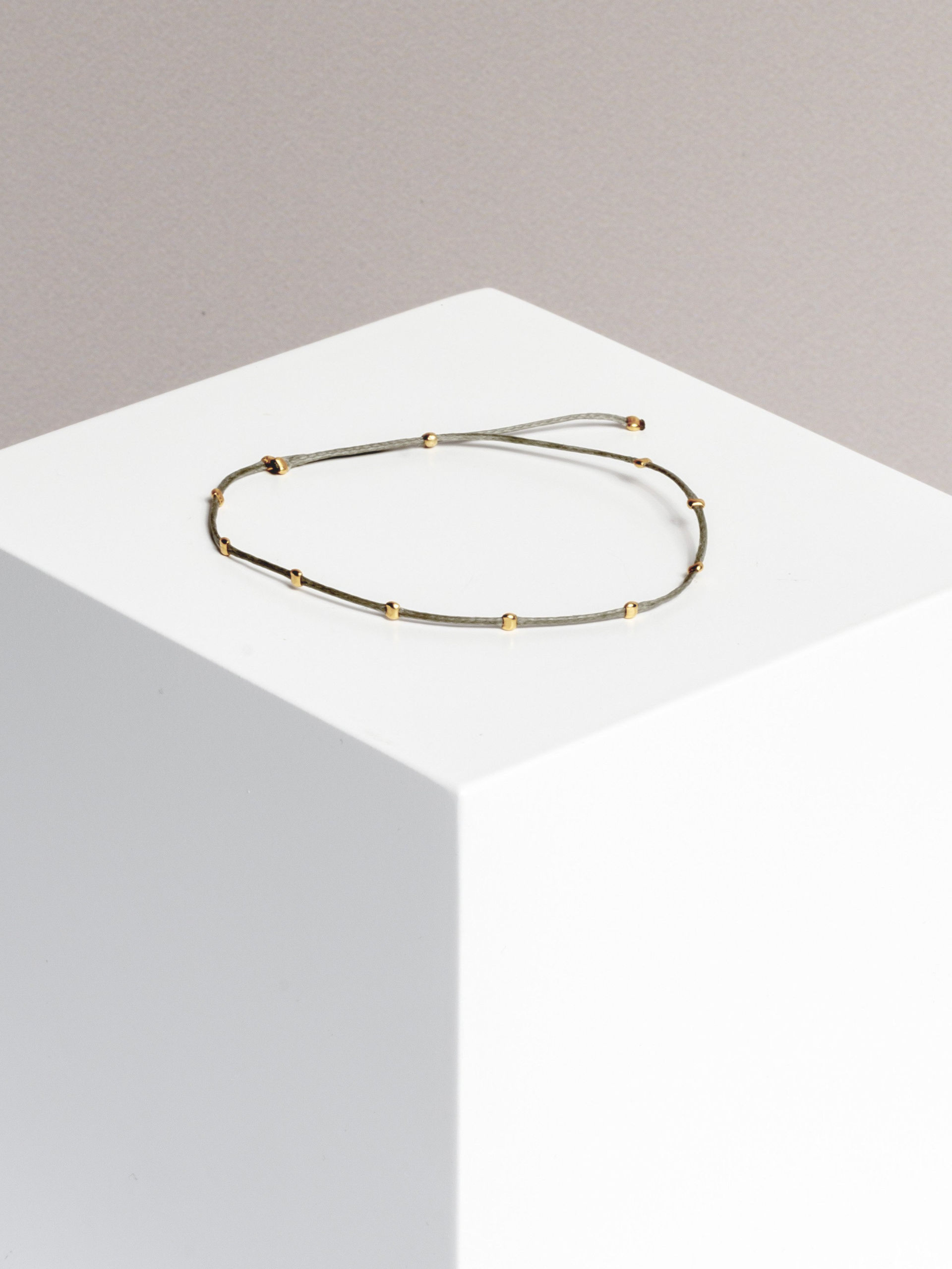 dots space bracelet (gold plated)