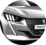 Peugeot 208 Silber Artense
