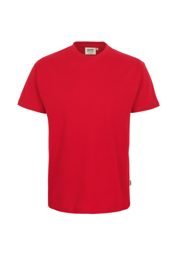 T-Shirt HAKRO Heavy-T 0293 Rot 02 mit Stickerei