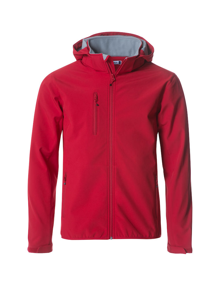 Herren Softshell Jacke CLIQUE Basic Softshell Hoody 020912 Red 35 mit Stickerei