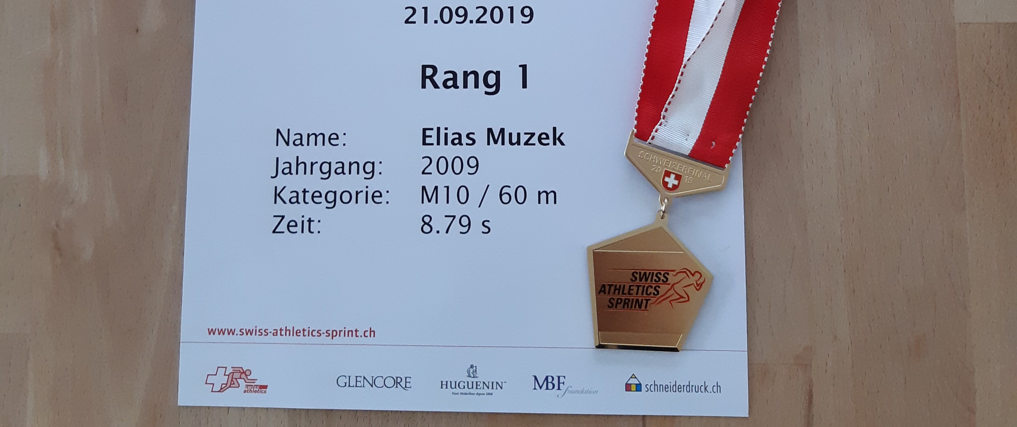 Schweizerfinal SWISS-ATHLETICS-SPRINT 2019