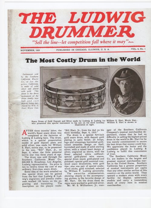 Foto-Frontpage-The-Ludwig-Drummer-1925-the-most-costly-drum-in-the-world