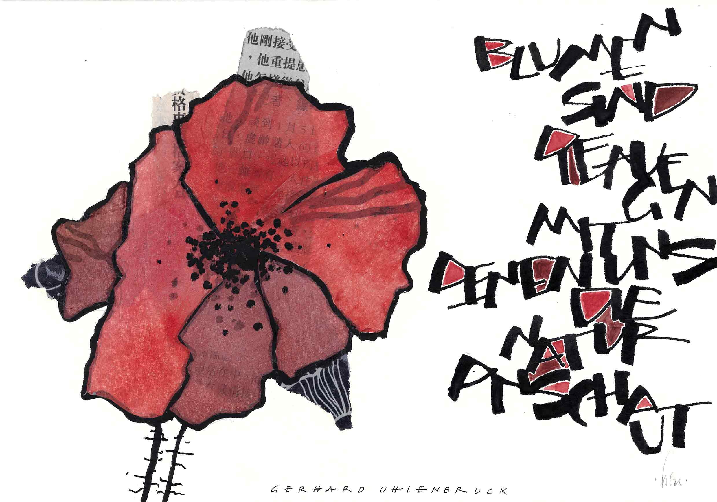 "Doppelkarte ""Mohn"" 