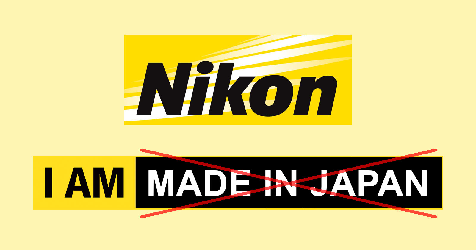 Nikon | I am (no more) made in japan