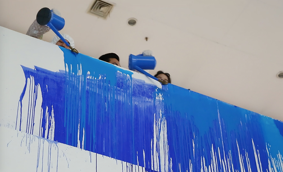 Painting performance . CAA Art Museum Hangzhou