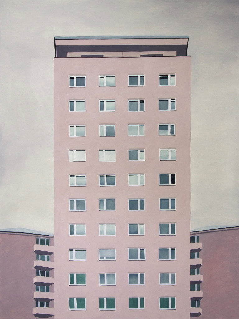 "Windows on Sonnwendgasse, 2016 | oil on canvas | 130x170cm (51""x70"")"