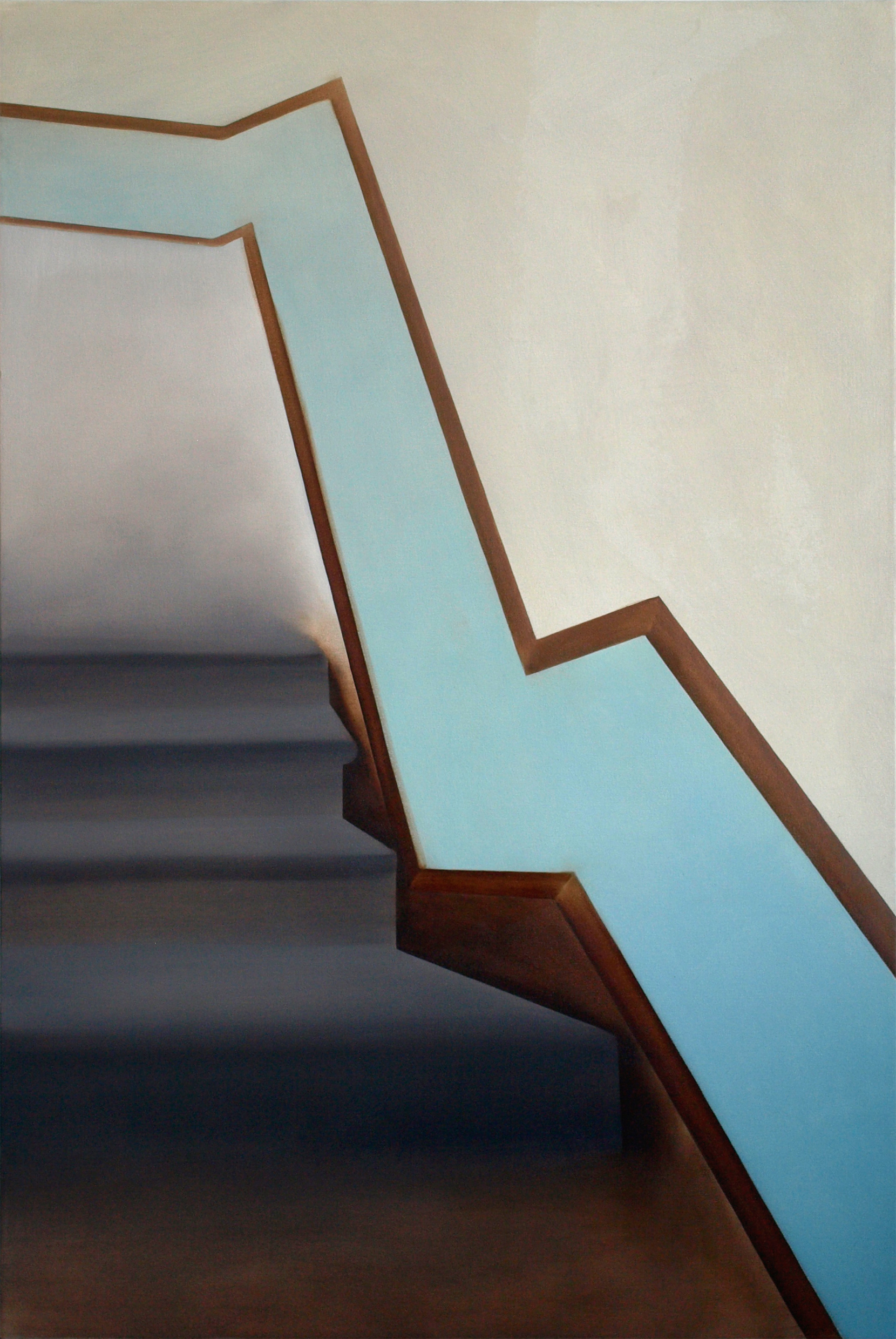 "Stairs on Macon Street, 2009 | oil on canvas | 100x150cm (39""x59"")"
