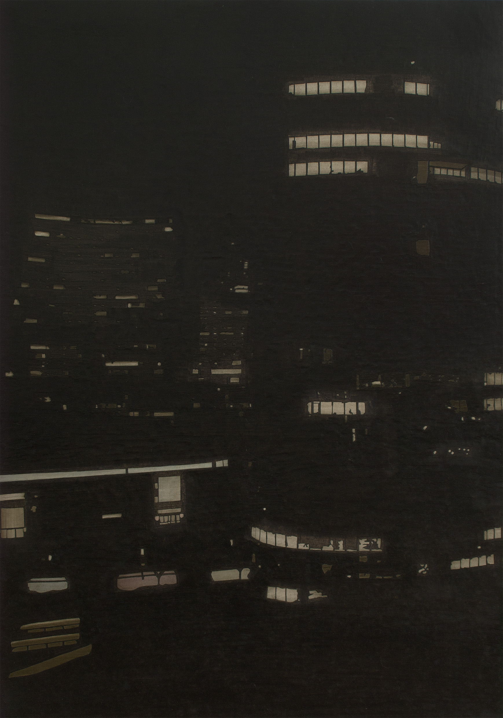 "Vienna DC at Night, 2012 I oil on panel I 70x100 (19.6""x27.5"")"