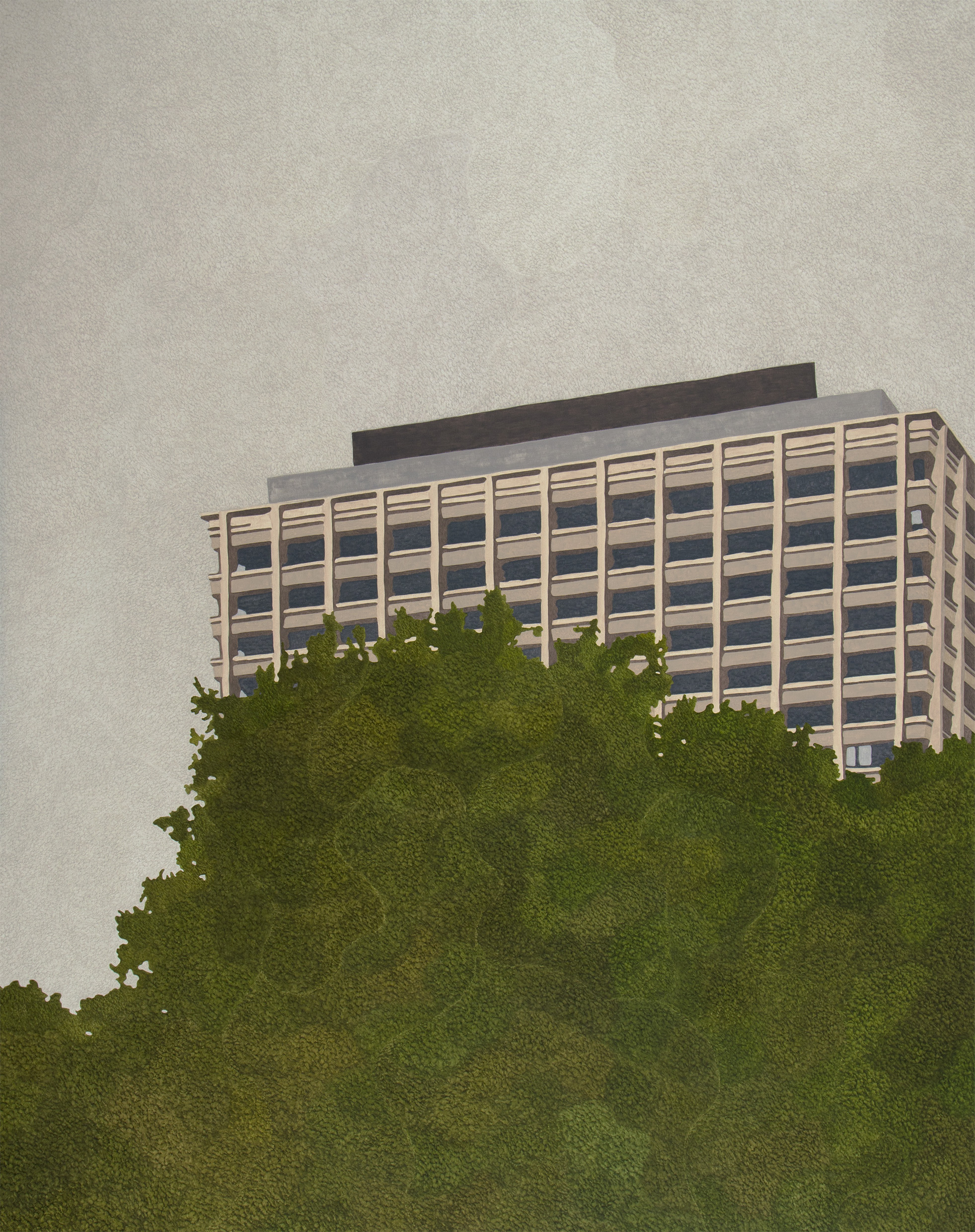 "Offices on Hollandstrasse, 2013 I oil on  canvas I  135x170cm (53""x70"")"