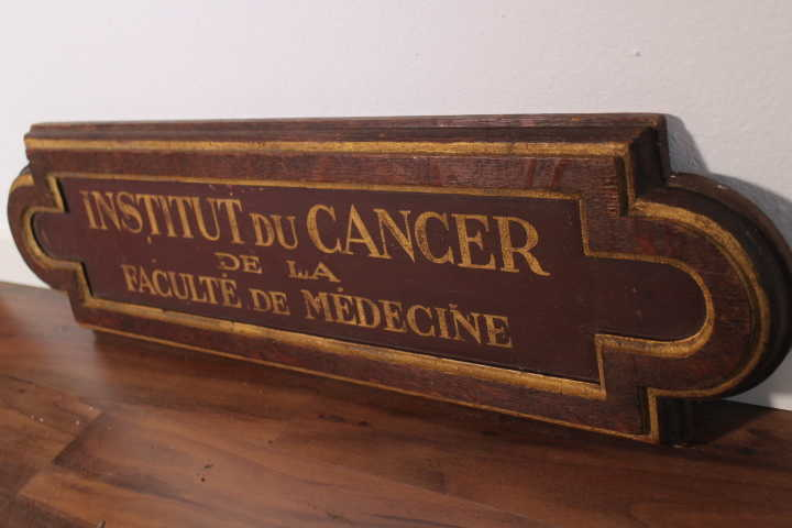Cancer Holzschild