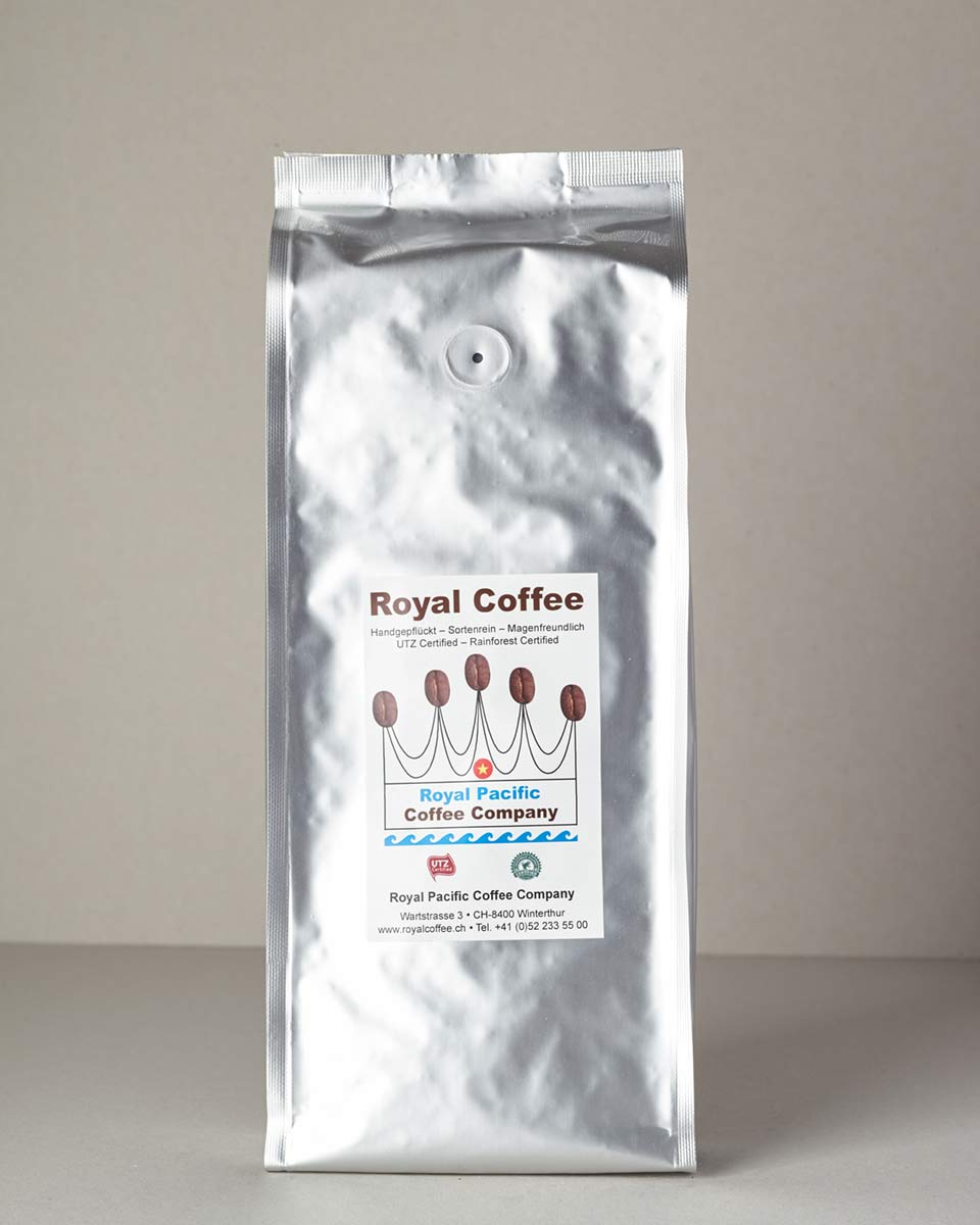 Royal Coffee Silver, Robusta/Arabica-Mix Vietnam, Single Origin UTZ, 500 Gramm