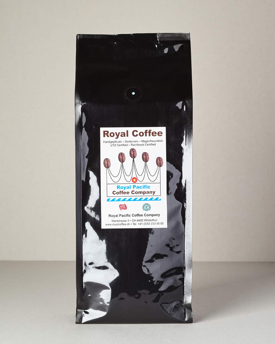 Royal Coffee Black, 100% Arabica Vietnam, Single Origin UTZ, 500 Gramm