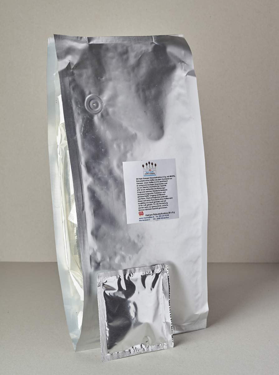 Kaffee Pads ESE,  MIX  Robusta + Arabica 2 Vietnam Single Origin UTZ