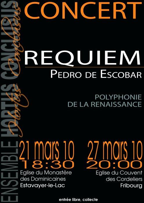 Affiche du Requiem dEscobar